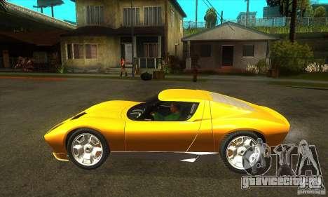 Lamborghini Miura Concept 2006 для GTA San Andreas вид слева