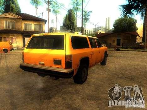 Taxi Rancher для GTA San Andreas вид сзади слева