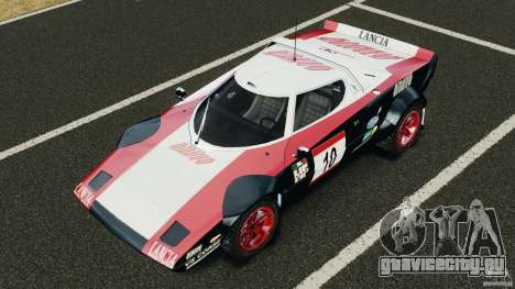 Lancia Stratos v1.1 для GTA 4 вид снизу