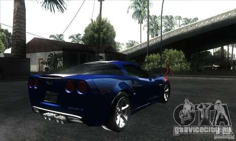 Chevrolet Corvette Grand Sport 2010 для GTA San Andreas салон