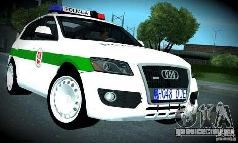 Audi Q5 TDi - Policija для GTA San Andreas вид изнутри