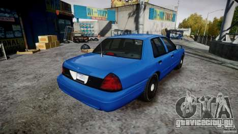 Ford Crown Victoria Detective v4.7 [ELS] для GTA 4 вид изнутри