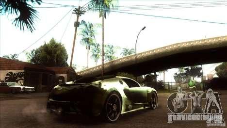 Bugatti Veyron Life Speed для GTA San Andreas вид справа
