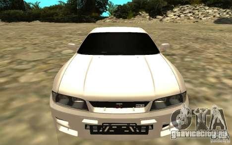 Nissan Skyline R33 для GTA San Andreas вид сзади