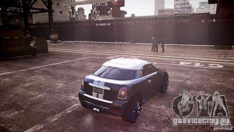 Mini Coupe Concept v0.5 для GTA 4 вид сзади слева