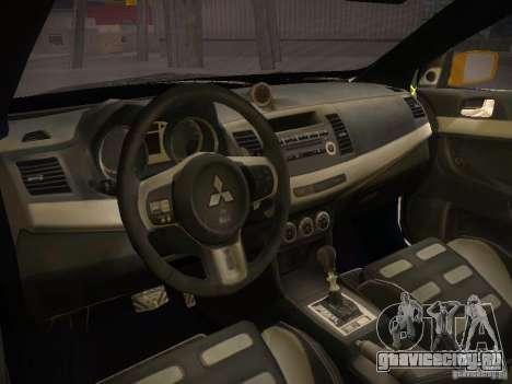 Mitsubishi Lancer Evo X Tunable для GTA San Andreas вид сзади слева