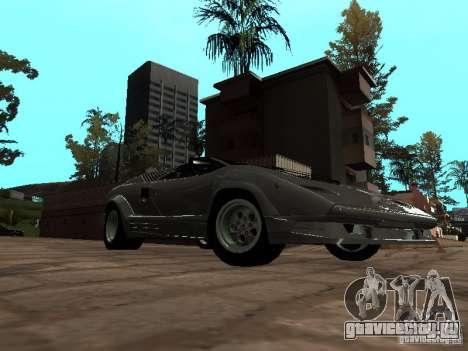 Lamborghini Countach 25th для GTA San Andreas вид сзади слева