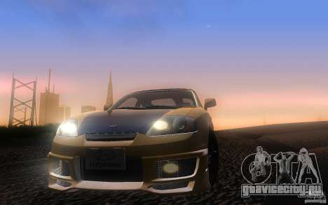 Hyundai Tiburon V6 Coupe tuning 2003 для GTA San Andreas вид сбоку