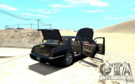Cadillac DTS v 2.0 для GTA 4 вид изнутри