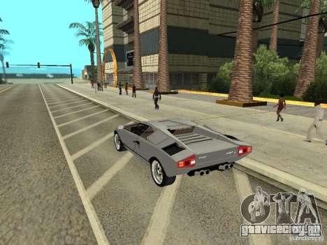 Lamborghini Countach LP400 для GTA San Andreas вид слева