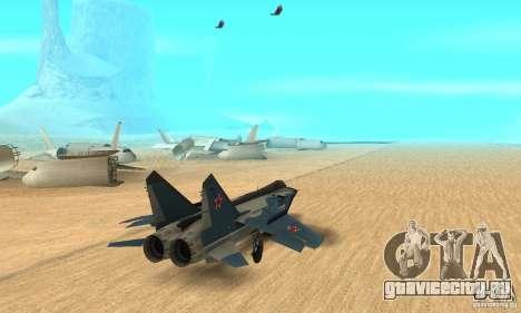 МиГ-31 Foxhound для GTA San Andreas вид слева