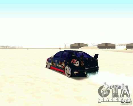 Skoda Octavia III Tuning для GTA San Andreas вид сзади