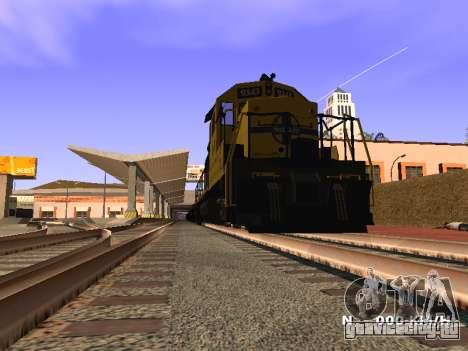 SD 40 UP BN Santa Fe для GTA San Andreas вид сзади слева