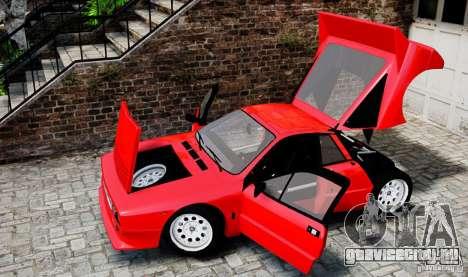 Lancia 037 Stradale для GTA 4 вид изнутри