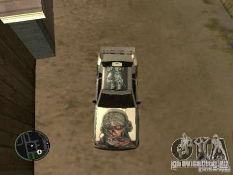 Ghost vynyl для Elegy для GTA San Andreas вид сзади слева