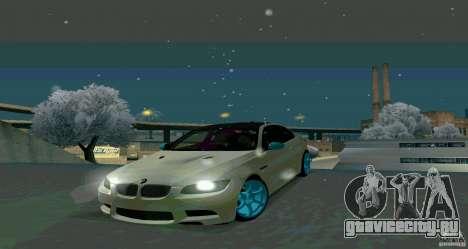 BMW E92 для GTA San Andreas вид сзади слева