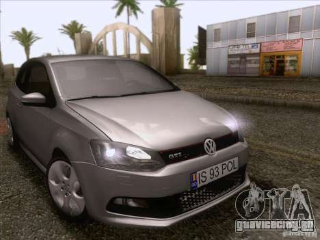 Volkswagen Polo GTI 2011 для GTA San Andreas вид изнутри
