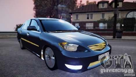 Toyota Camry 2004 для GTA 4 вид сзади