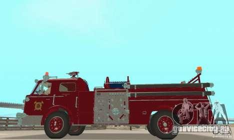 American LaFrance Pumper 1960 для GTA San Andreas вид справа