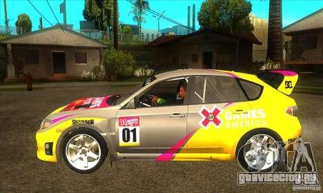 Subaru Impreza WRX STi X GAMES America из DIRT 2 для GTA San Andreas вид слева