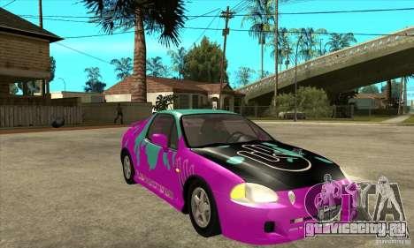 Honda CRX - DelSol для GTA San Andreas вид сзади