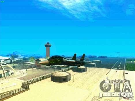 F-14 Tomcat Schnee для GTA San Andreas вид снизу
