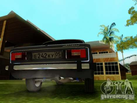 ВАЗ 2106 для GTA San Andreas вид сбоку