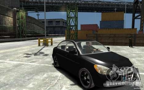 Hyundai Accent 2006 для GTA 4 вид сзади