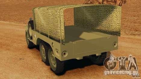 Dodge WC-62 3 Truck для GTA 4 вид сзади слева