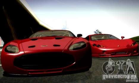Aston Martin V12 Zagato Final для GTA San Andreas вид сзади слева