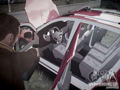 Dacia Sandero Stepway для GTA 4 салон