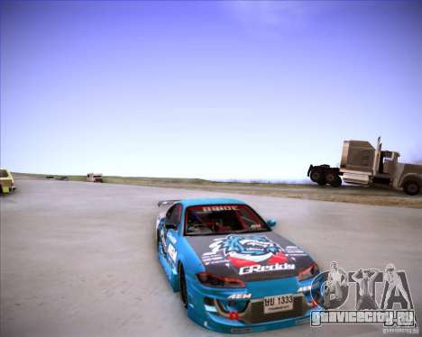 Nissan Silvia S15 Blue Tiger для GTA San Andreas вид сзади