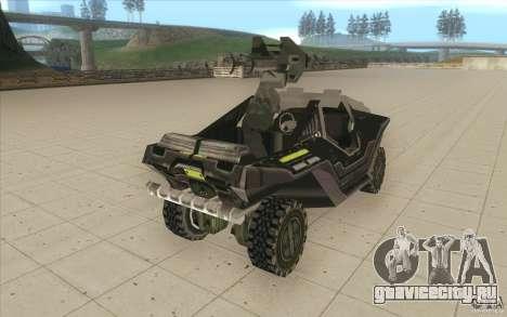 Halo Warthog для GTA San Andreas вид изнутри