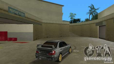 Subaru Impreza WRX STi для GTA Vice City вид справа
