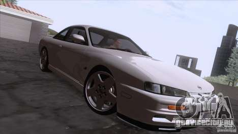 Nissan Silvia S14 Kouki для GTA San Andreas вид изнутри