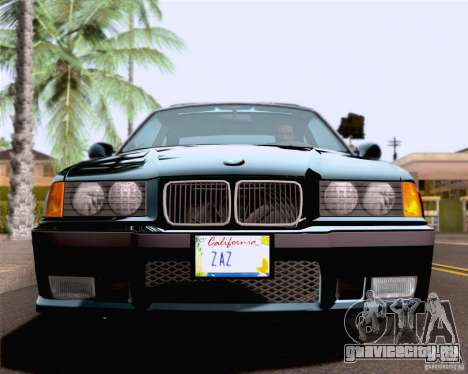 BMW M3 E36 New Wheels для GTA San Andreas вид сбоку