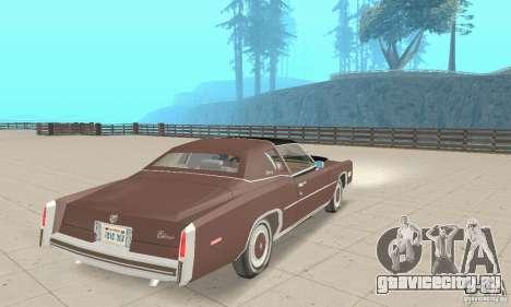 Cadillac Eldorado Biarritz 1978 для GTA San Andreas вид слева