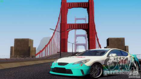 Hyundai Genesis Tunable для GTA San Andreas вид снизу