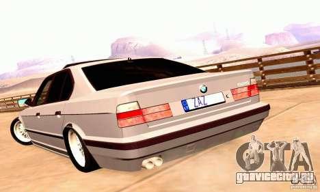 BMW E34 525i для GTA San Andreas вид справа