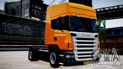 Scania R500 для GTA 4 вид изнутри