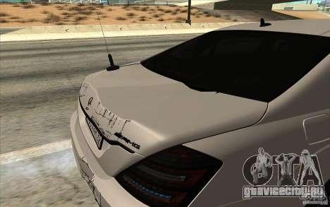 Mercedes-Benz S65 AMG с мигалками для GTA San Andreas вид сзади