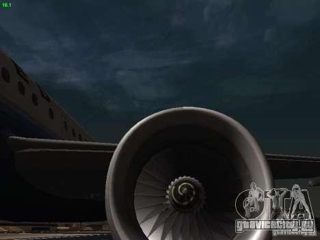 Airbus A319 United Airlines для GTA San Andreas вид сбоку