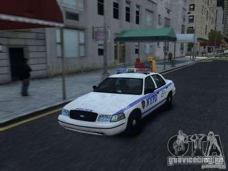 Ford Crown Victoria NYPD 2012 для GTA 4 вид изнутри