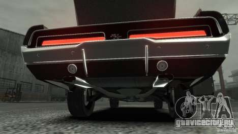 Dodge Charger RT 1969 Tun для GTA 4 вид изнутри
