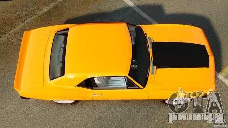 Chevrolet Camaro Z28 1969 для GTA 4 вид справа
