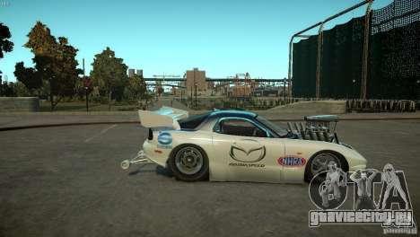 Mazda rx7 Dragster для GTA 4 вид сзади