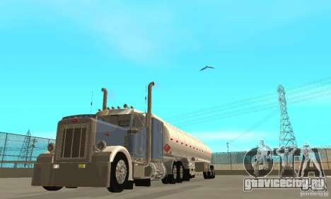 Peterbilt 379 Custom And Tanker Trailer для GTA San Andreas вид изнутри