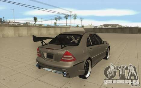 Mercedes-Benz C32 AMG Tuning для GTA San Andreas вид сбоку