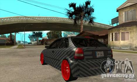 Honda Civic Carbon Latvian Skin для GTA San Andreas вид справа