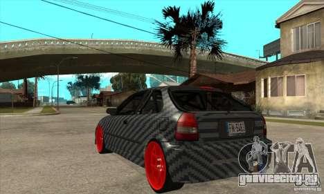 Honda Civic Carbon Latvian Skin для GTA San Andreas вид справа